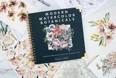 Modern Watercolor Botanicals - Simon - HC