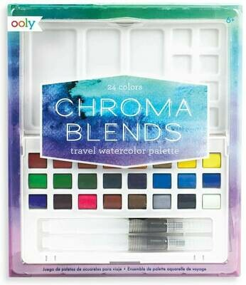 Ooly Chroma Blends Travel Watercolor Palette