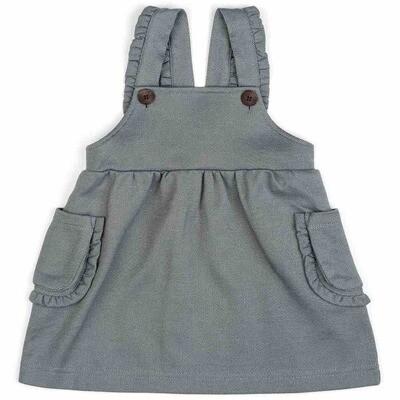 Milkbarn Denim 6-12mo Dress Overall