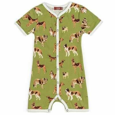Milkbarn Green Dog 6-12mo Shortall