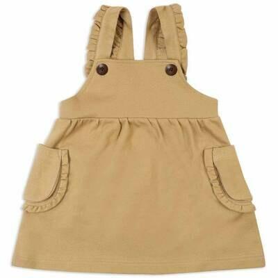 Milkbarn Rust Pinstripe 12-18mo Dress Overall