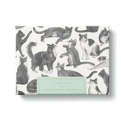 Cat - Appreciation & Friendship Boxed Notecard Set