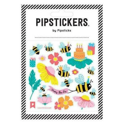 PipSticks Happy Bee-Day Stickers - 4x4