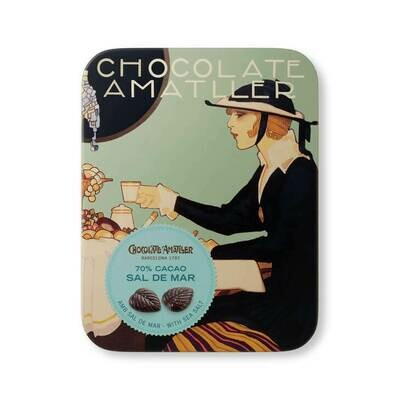Olo&Co Dark Chocolate with Salt in a Collectable Gift Tin - 60g
