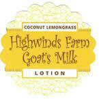 Coconut Lemongrass 4oz Goats Milk Lotion
