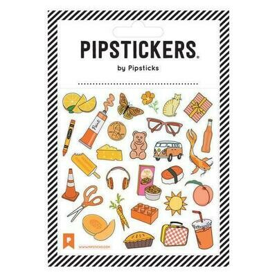 PipSticks ORANGE you Glad Stickers - 4x4