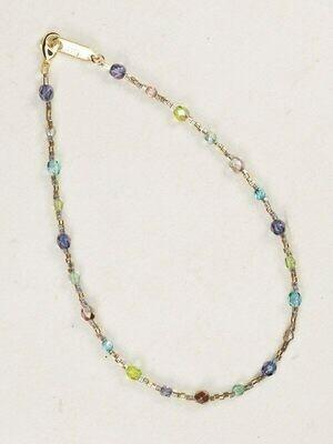 Holly Yashi 92875 Splash of Spring Sonoma Glass Bead Anklet
