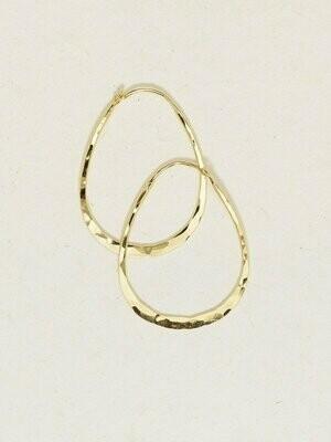 Holly Yashi 13730 Gold Hazel Medium Hoop Earrings