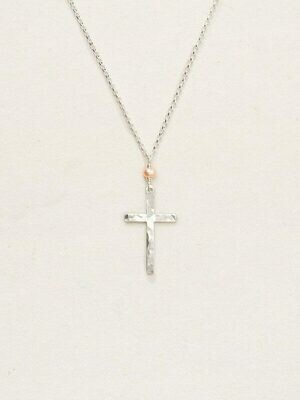 Holly Yashi 11475 Silver Love and Honor Cross Drop Necklace
