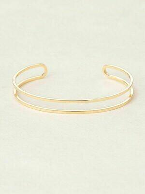 Holly Yashi 11015 Gold Odette Narrow Split Cuff Bracelet