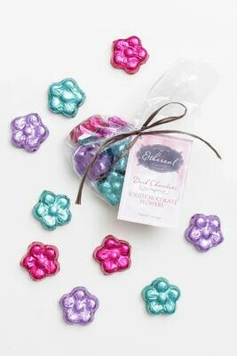 Ethereal Solid Chocolate Flowers Cello  Bag