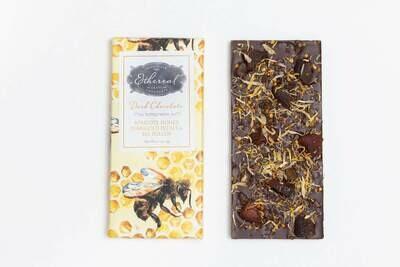 Ethereal Dark Chocolate Apricots, Honey, Marigold Inclusion Bar - 2.5oz