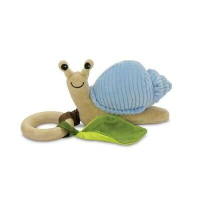 Blue Coruroy - Snail Crawling Teething Toy - Apple Park