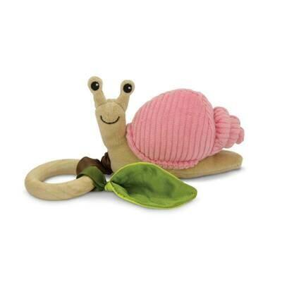 Pink Corduroy - Snail Crawling Teething Toy - Apple Park