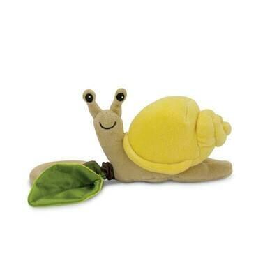 Yellow Velour - Snail Crawling Teething Toy - Apple Park