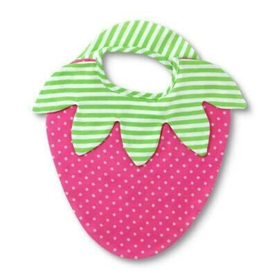 Strawberry Organic Cotton Bib - Apple Park