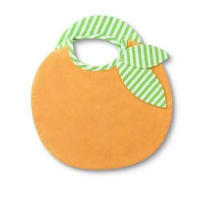 Orange Organic Cotton Bib - Apple Park