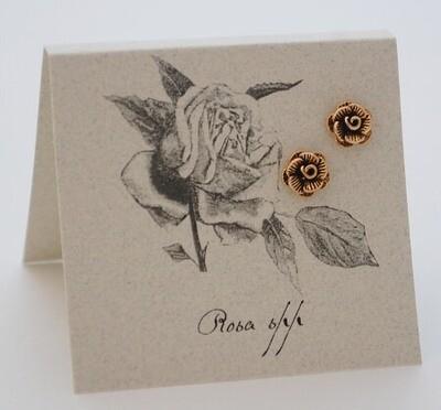 S&B Rose 14k Gold vermeil Post Earrings