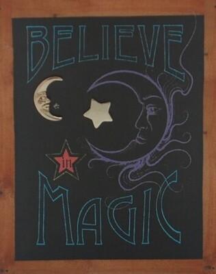 S&B Believe in Magic SS Star & Moon Post Earrings