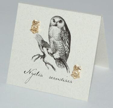S&B Owl 14k Gold vermeil Post Earrings