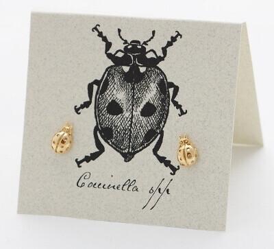 S&B Ladybug 14k Gold vermeil Post Earrings