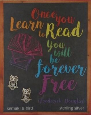 S&B Learn to Read Free SS Owl Post Earrings