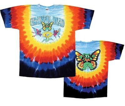 GD Butterfly Bears Med Tie-Dye T-Shirt - Sundog