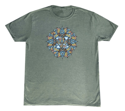 HL Wave Mandala Solid Med T-Shirt