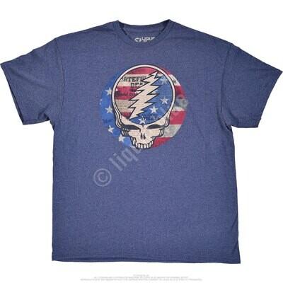USA Distressed SYF Blue Lrg T-Shirt