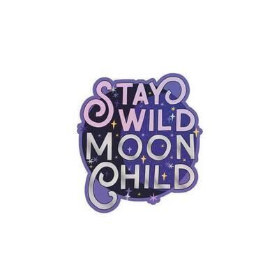 """PipSticks Stay Wild Moon Child Vinyl Sticker - 3-4"""""""