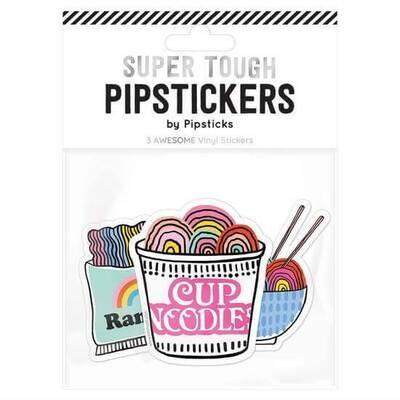 "PipSticks Ramen Love With You Vinyl Stickers - 3-4"""