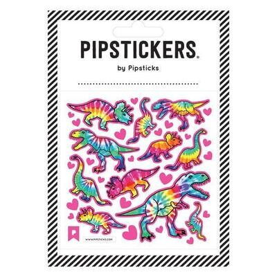 PipSticks Tie Dye T-Rex Stickers - 4x4