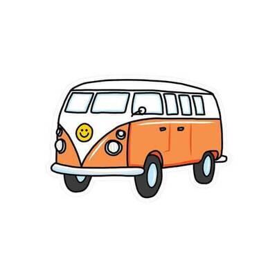 """PipSticks Vintage Bus Vinyl Sticker - 3-4"""""""