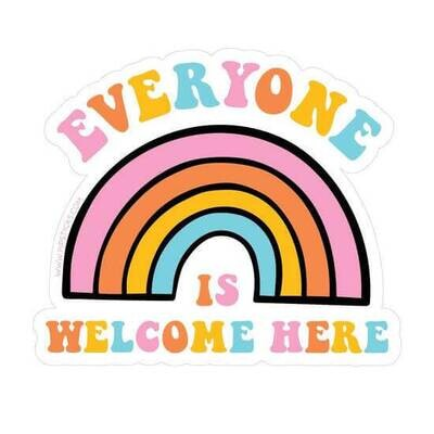 "PipSticks Everyone is Welcome Here Vinyl Sticker - 3-4"""