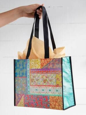 NL 156 Patchwork Happy Bag Lrg Recycled Gift Bag