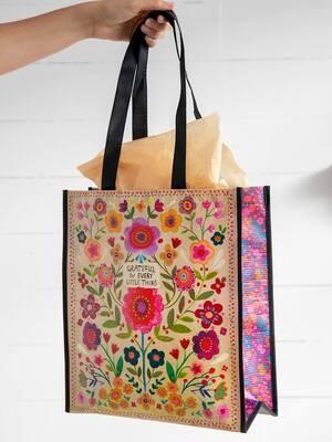 NL 154 Grateful Happy Bag XLrg Recycled Gift Bag