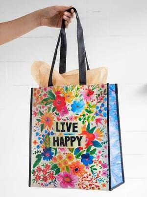 NL 153 Live Happy: Happy Bag XLrg Recycled Gift Bag