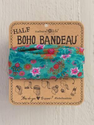 316 Green Floral Mandala Half Boho Bandeau