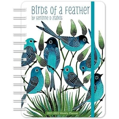 Feathered Friends: Birds of a Feather Aug-Dec 2021-2022 Weekly Planner
