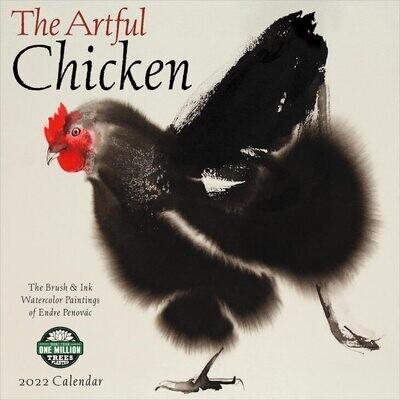 WAL The Artful Chicken 2022 Wall Calendar