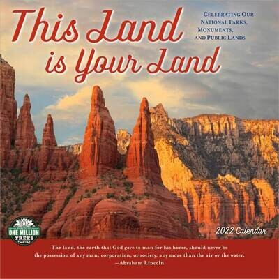 WAL This Land is Your Land 2022 Wall Calendar