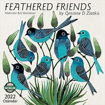 WAL Feathered Friends 2022 Wall Calendar