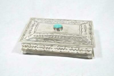 Stamped Silver Box w/TQ