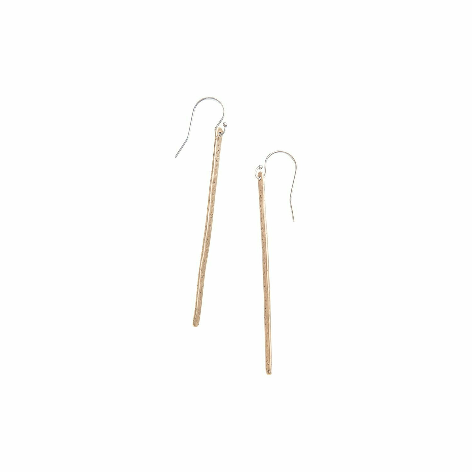 Organic Yellow Bronze Earrings