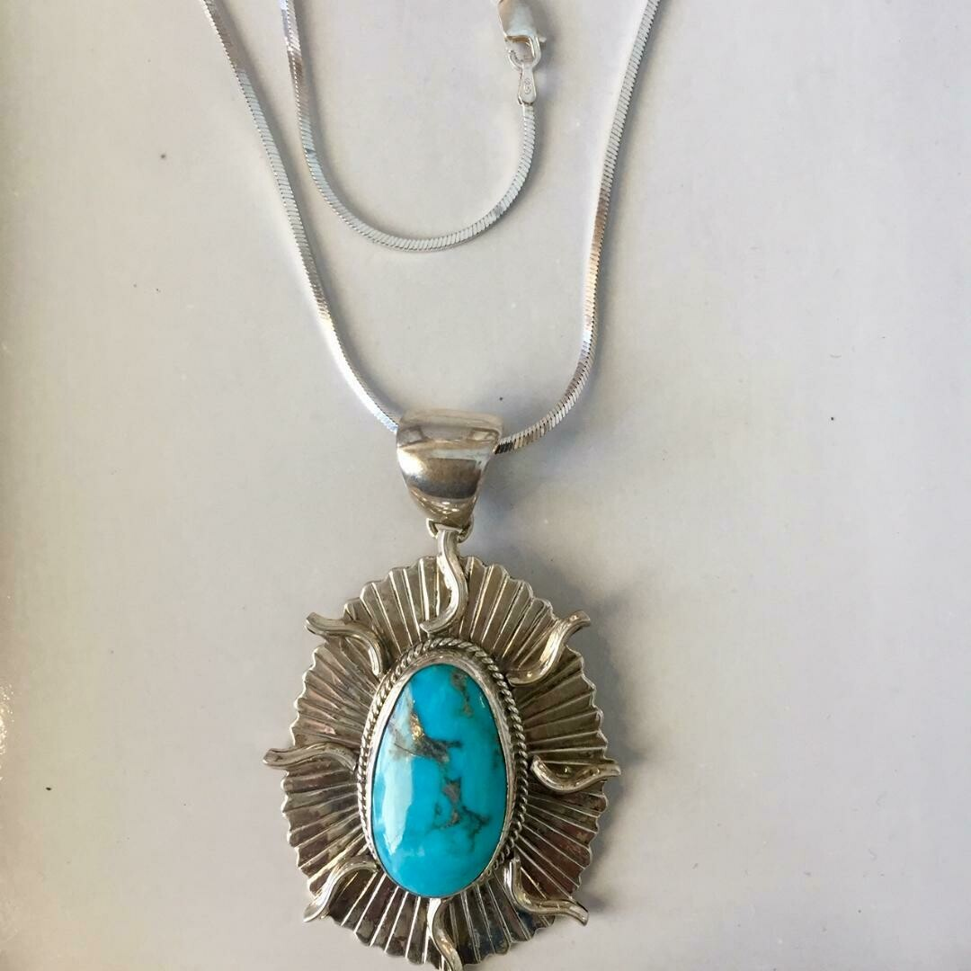 Sunburst TQ Necklace
