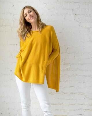 Travel Sweater Mustard