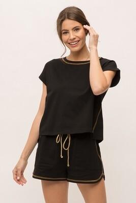 Stitch Shirt Black