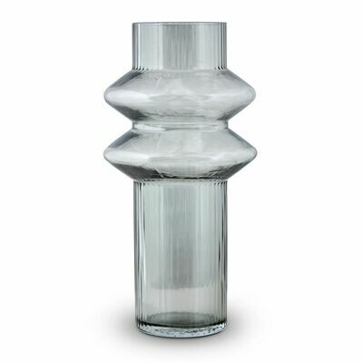Aswan Vase Storm Gray Large