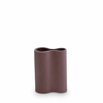 Marmoset Found- Ribbed Infinity Vase- Plum