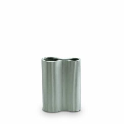 Marmoset Found- Ribbed Infinity Vase- Blue